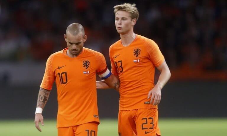 Wesley Sneijder en Frenkie de Jong