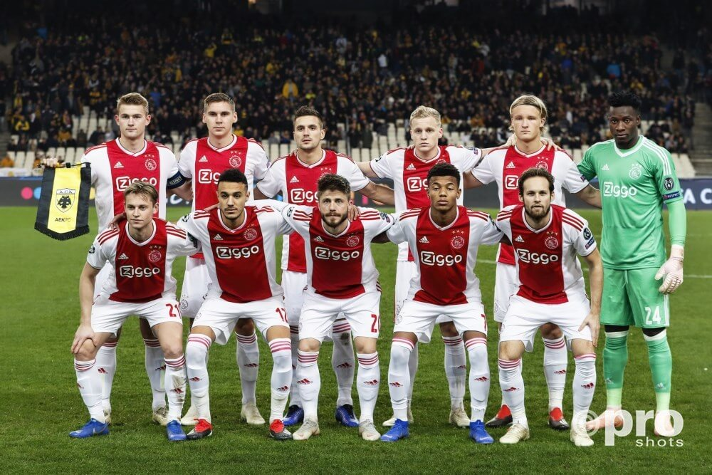 Opstelling Ajax tegen Bayern