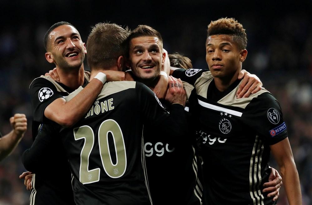 opstelling Ajax-PSV