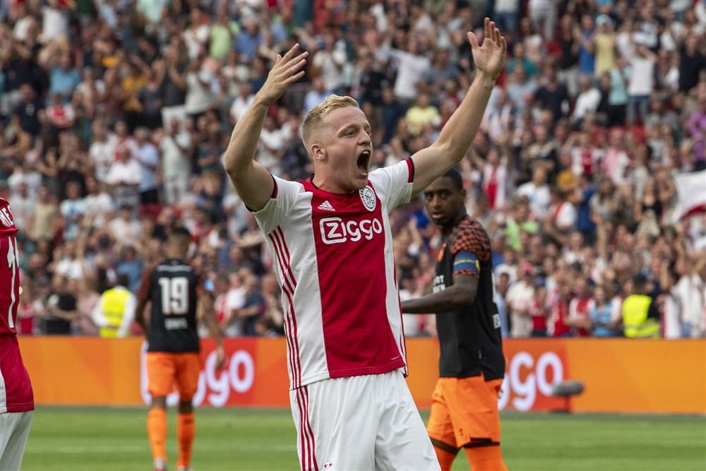 Donny van de Beek opstelling Ajax