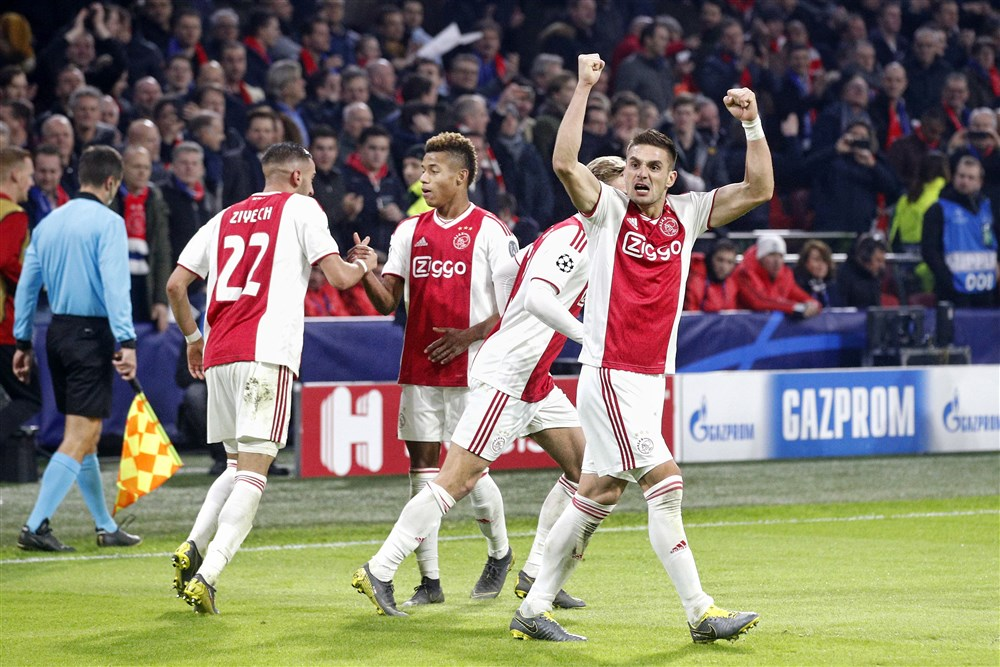 opstelling van Ajax in Madrid